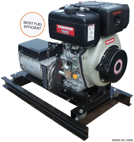 Slow-Turning 5 kW Yanmar Diesel Generator