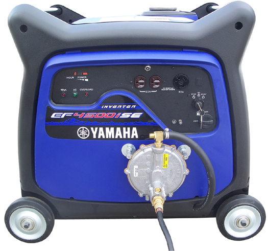 Triple-Fuel Yamaha EF4500iSE front-view