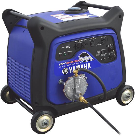 Triple fuel yamaha ef6300isde inverter generator for Yamaha propane inverter generator
