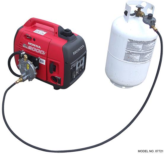 honda eu2000i inverter generator with propane tank