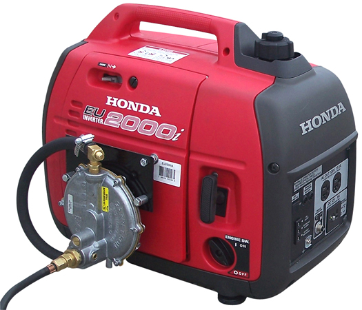 inverter generator with cmd triple fuel system