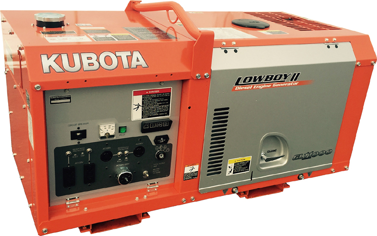 kubota gl11000 lowboy diesel generator. Black Bedroom Furniture Sets. Home Design Ideas