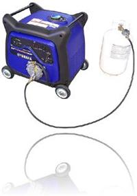 Triple fuel generators operate on propane natural gas for Yamaha propane inverter generator