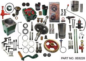 complete spare parts kit - single cylinder engine